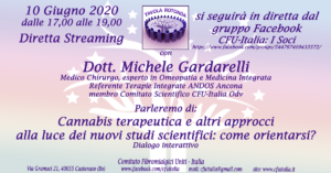 CFU-Italia: Parleremo di: Cannabis terapeutica e altri approcci alla luce dei nuovi studi scientifici: come orientarsi? Dialogo interattivo