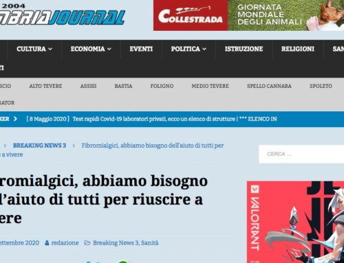 Anche l'Umbria si muove a supporto della raccolta fondi per la ricerca, grazie alla nostra referente Milena Zuccari