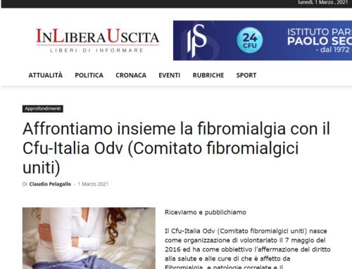 Affrontiamo insieme la fibromialgia con il Cfu-Italia Odv (Comitato fibromialgici uniti)